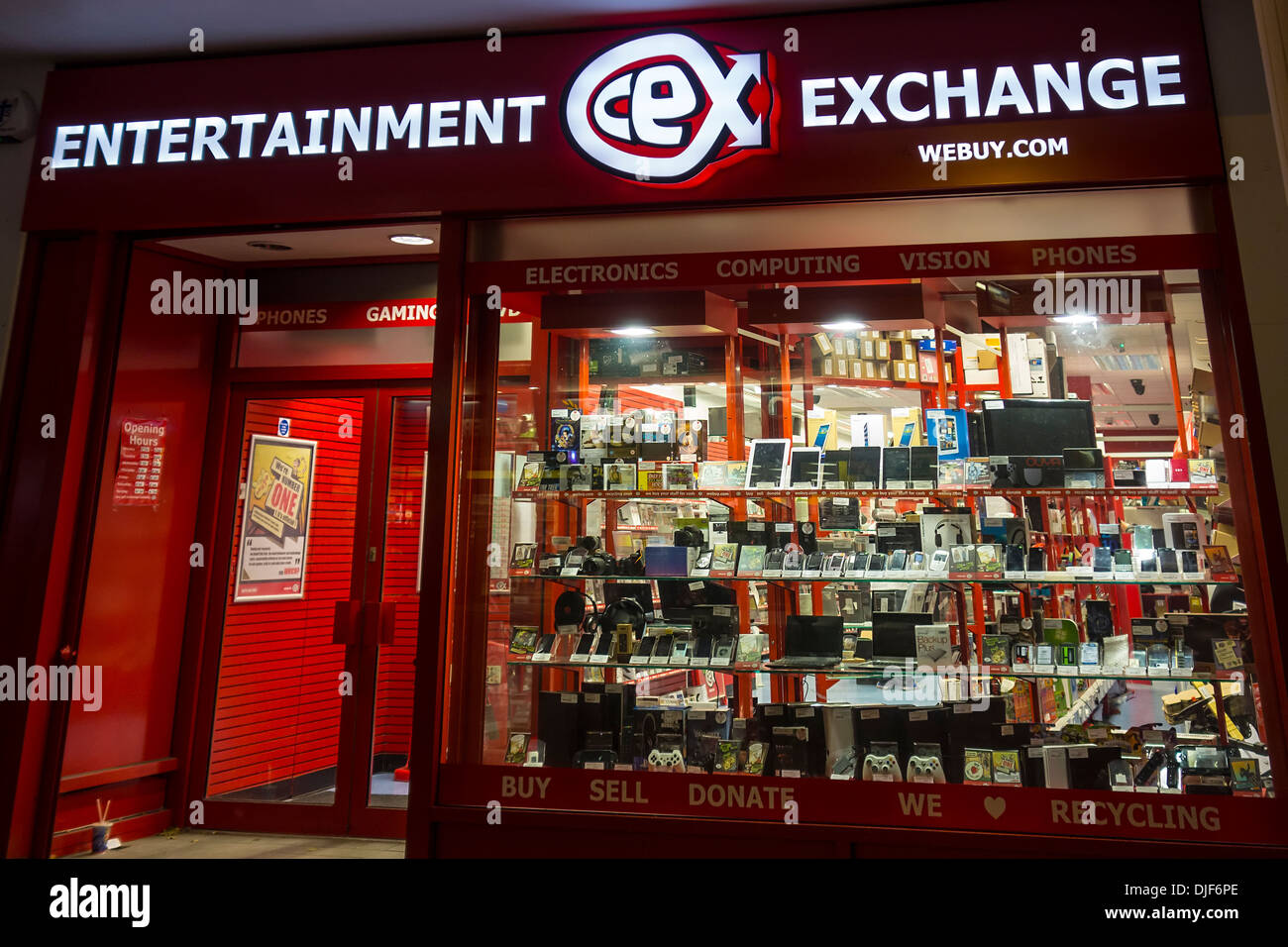 Entertainment Exchange CEX webuy.com Stock Photo: 63029526 - Alamy