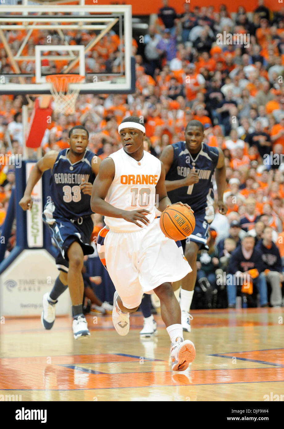 February 16 2008 The Syracuse University Mens Basketball Team