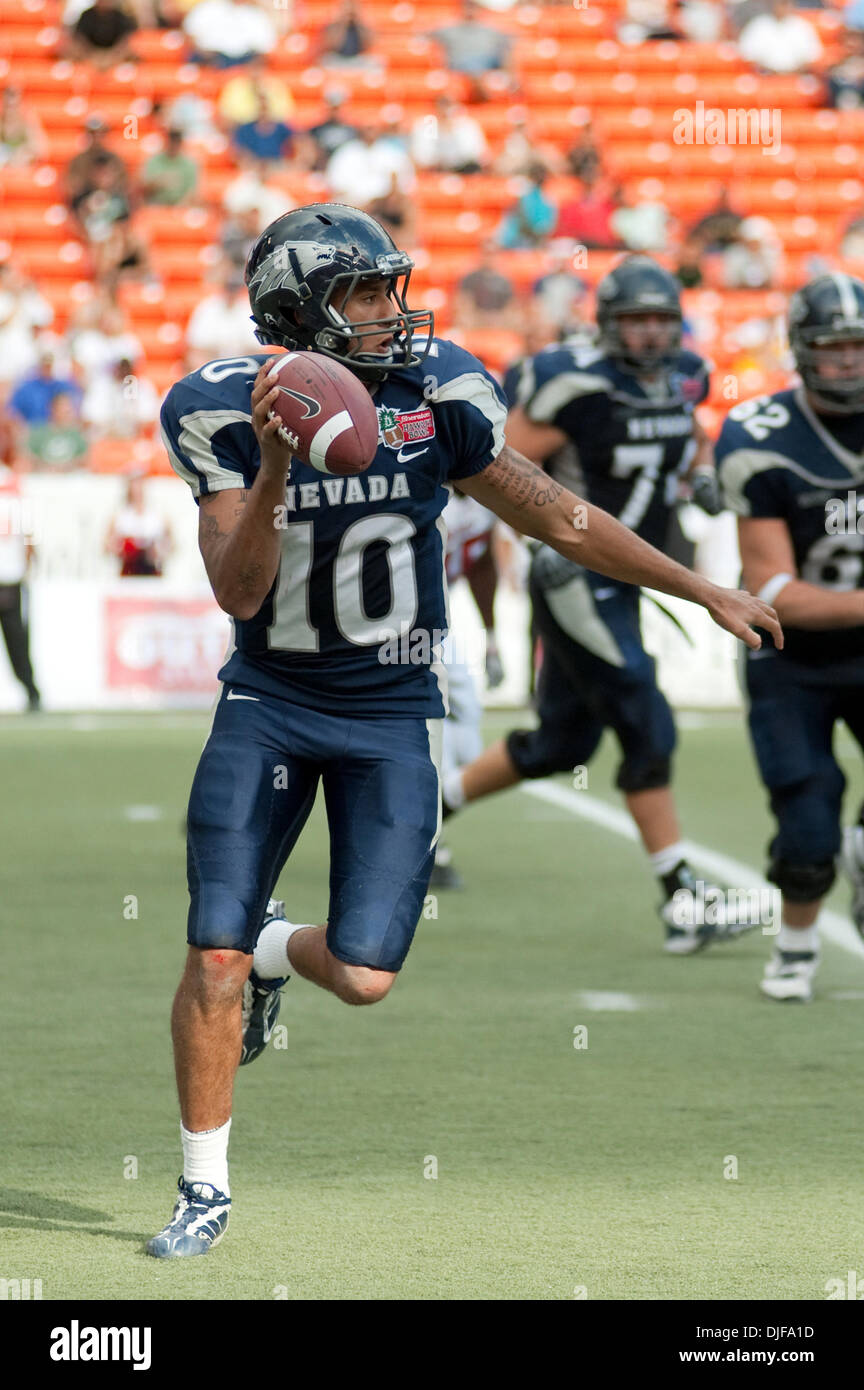 519eb3578 Nevada quarterback Colin Kaepernick #10 looks for a receiver during 1st  half action of the