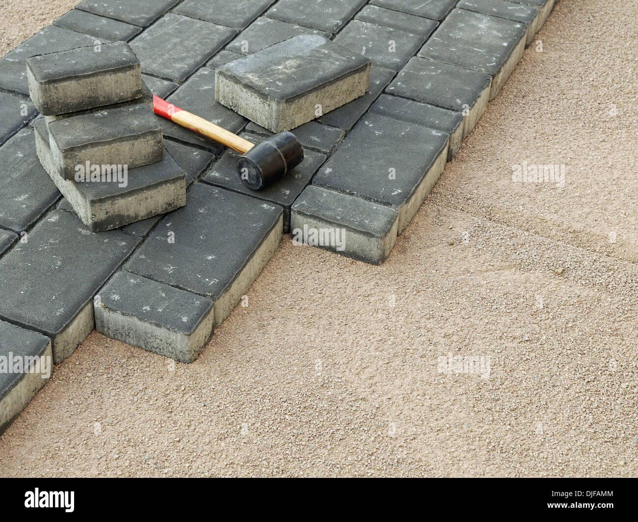 Laying Concrete Blocks Stock Photos & Laying Concrete Blocks