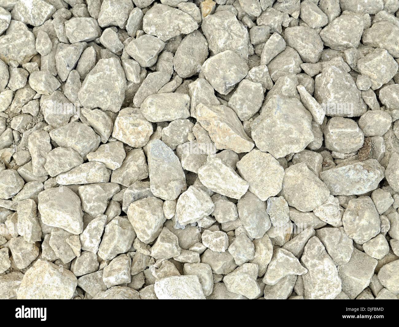 Background of gray crushed stone - Stock Image