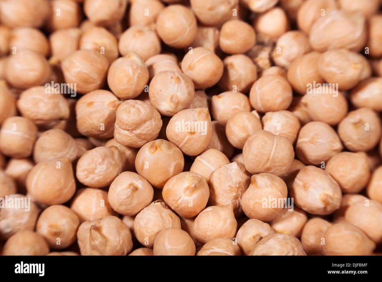 peas closeup many textured blur - Stock Image