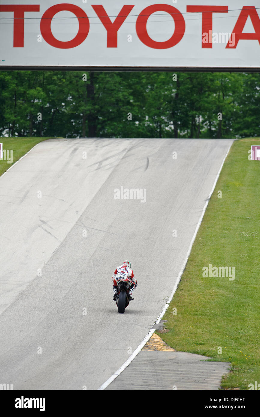 Larry Pegram 72 On His Foremost Insurance Ducati 1098r Heads Up