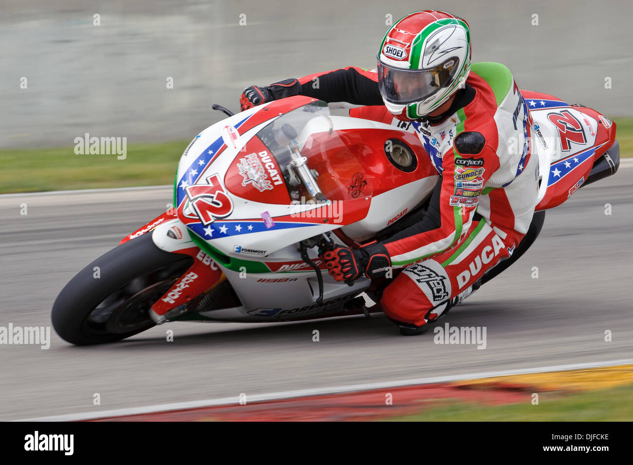 Larry Pegram 72 On His Foremost Insurance Ducati 1098r During The