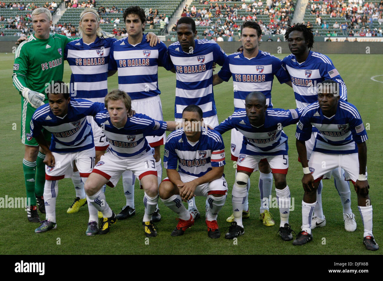 33f4a3be4 26 June 2010  FC Dallas starting 11 pose for a team portrait before the Chivas  USA vs FC Dallas game at the Home Depot Center in Carson