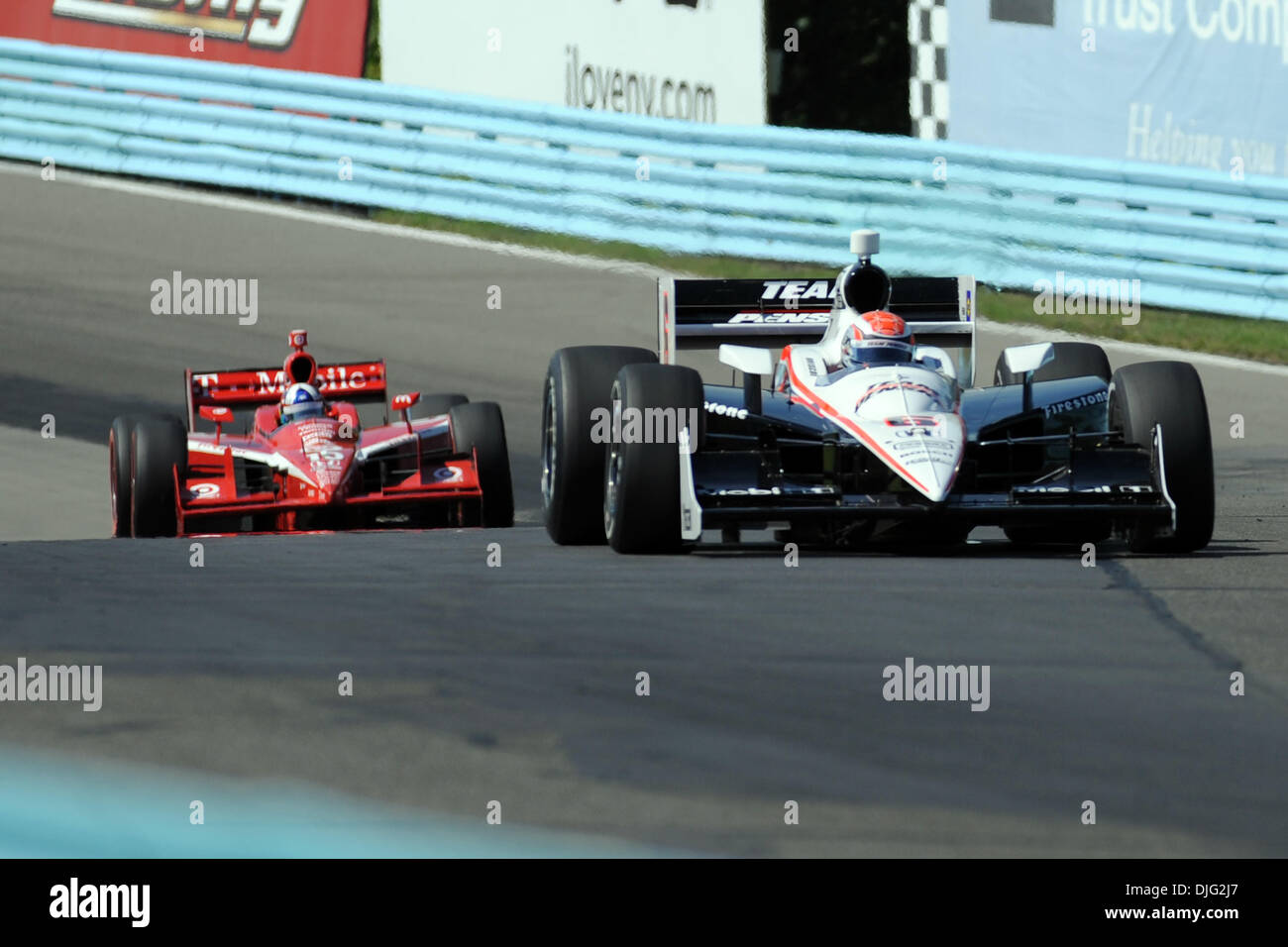 The Team Penske Honda Piloted By Ryan Bricoe Leads The Target Car Of
