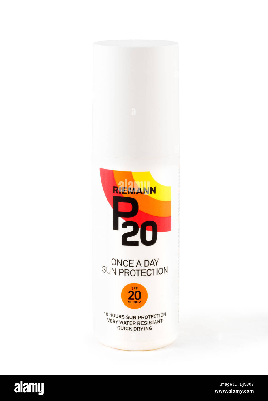 Riemann P20 once a day suntan lotion - Stock Image