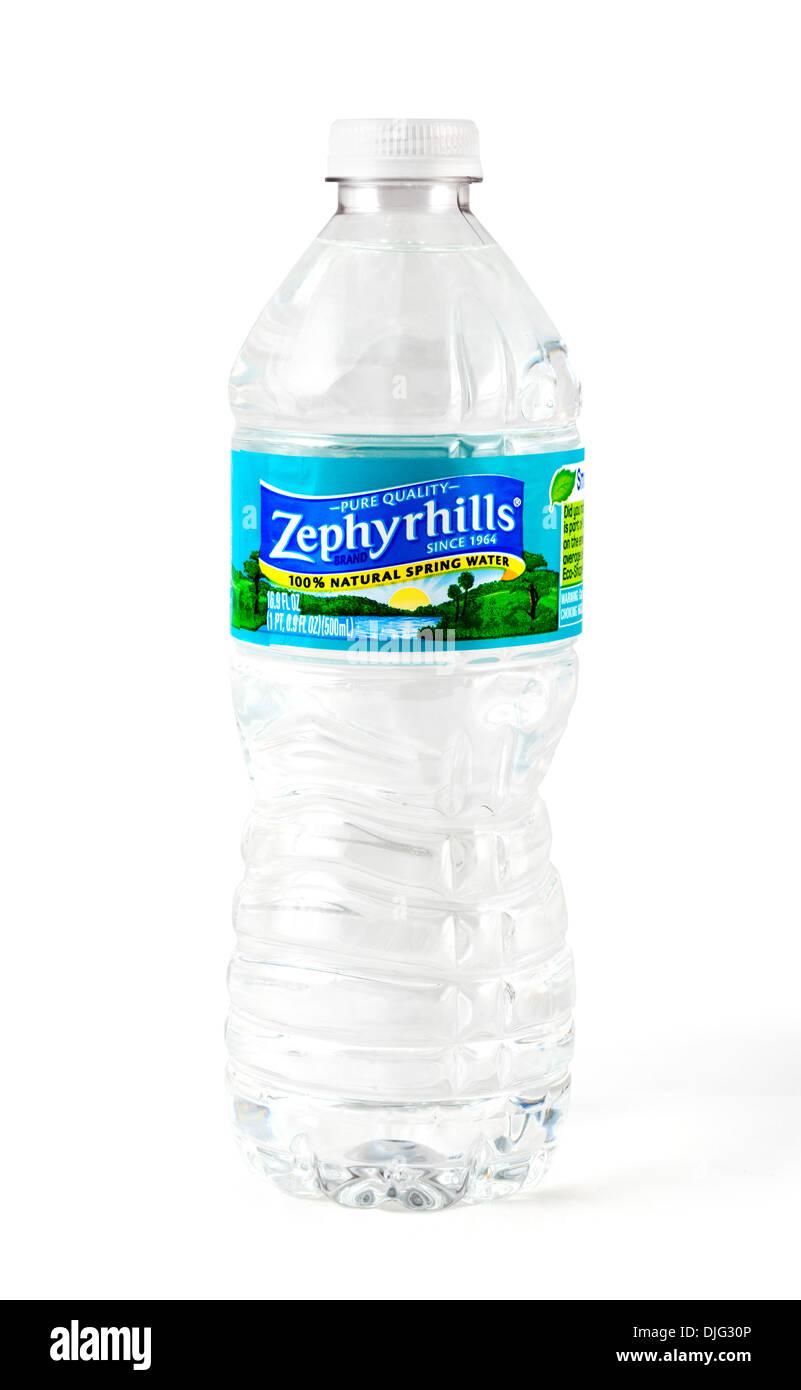 Bottle of Zephyrhills pure spring water, Florida, USA - Stock Image