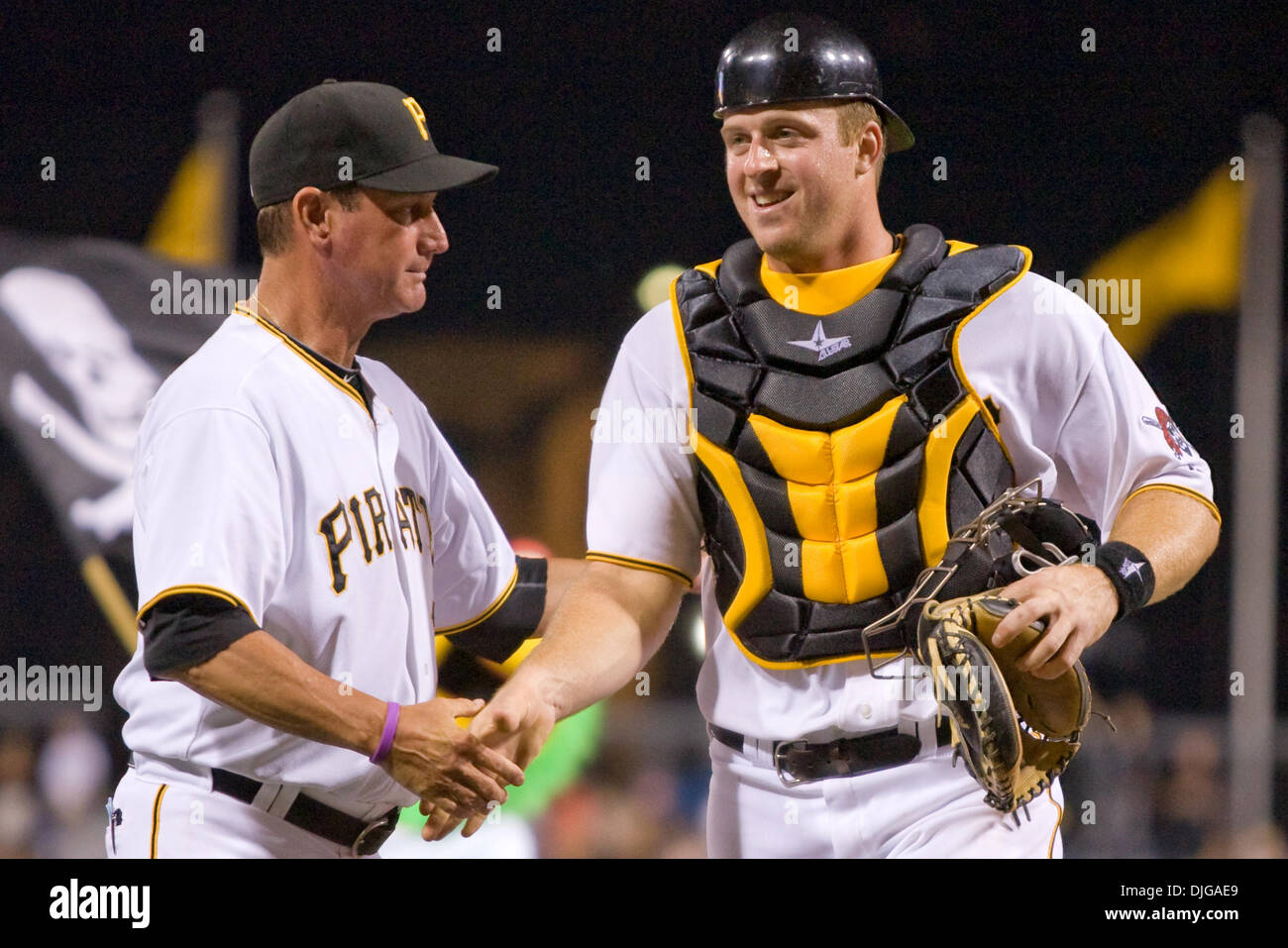 pretty nice d01cd bec41 17 July 2010: Pittsburgh Pirates manager John Russell (7 ...
