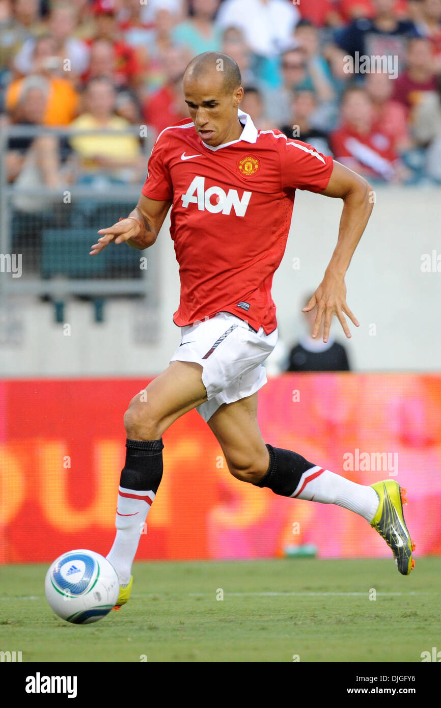July 21, 2010 - Philadelphia, PA, United States of America - 21 July 2010 - Manchester United Forward Gabriel Obertan (#26) in action as The Eighteen times English Premier League Champion Manchester United face Major League Soccer's newest team, The Philadelphia Union, at Lincoln Financial Field in Philadelphia, PA. The visitors won 1-0. Mandatory credit: Brooks Von Arx, Jr./Southc - Stock Image