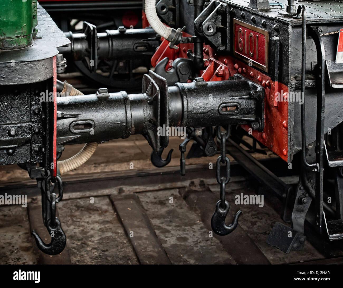 Wagon locomotive train assembly - Stock Image