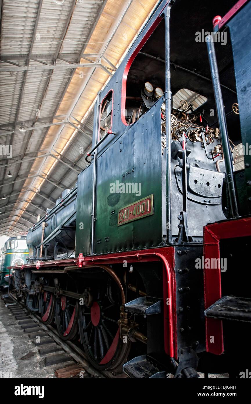 Old steam locomotive train - Stock Image
