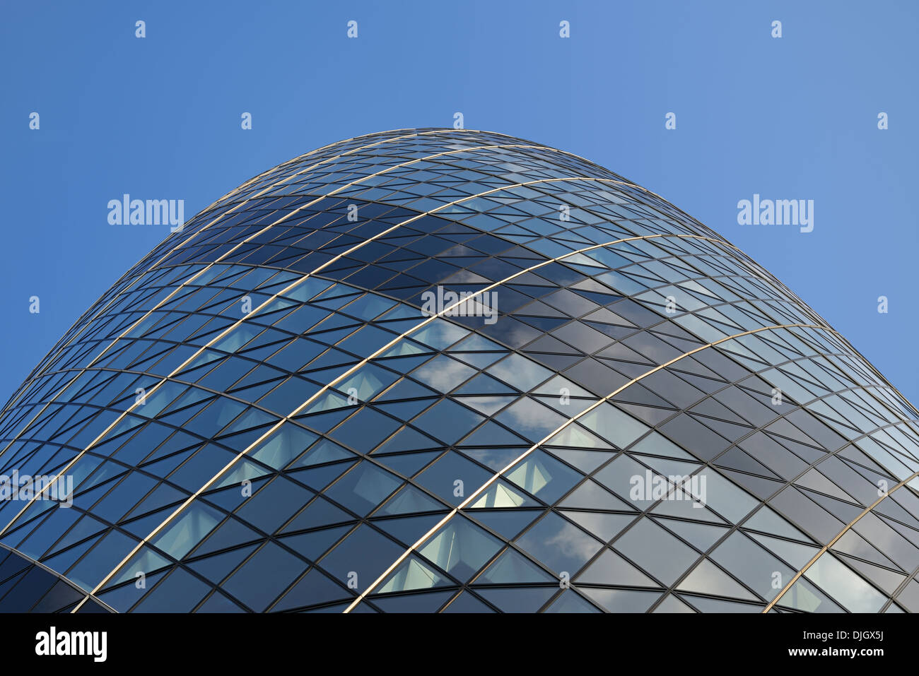 The Gherkin Building, 30 St Mary Axe, London, UK. - Stock Image