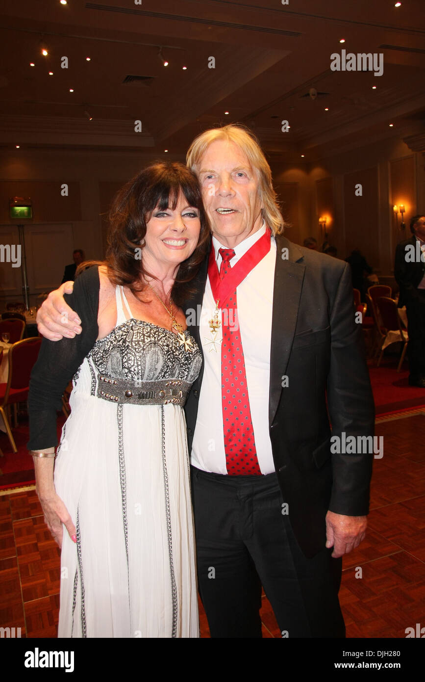Vicki Michelle and Lord Roberts Davidson (both new members of Order of St John of Jerusalem) Heritage Foundation luncheon with - Stock Image