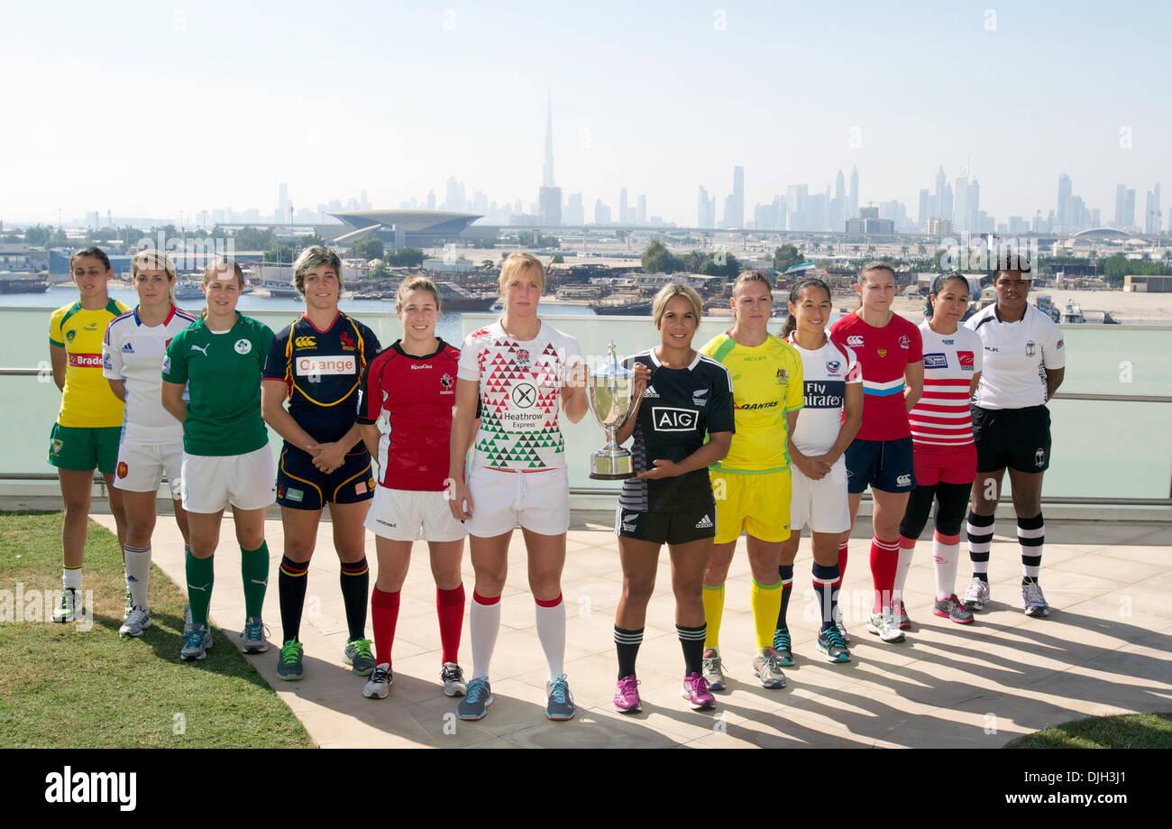 27th Nov, 2013. Women's Captains at Dubai Sevens