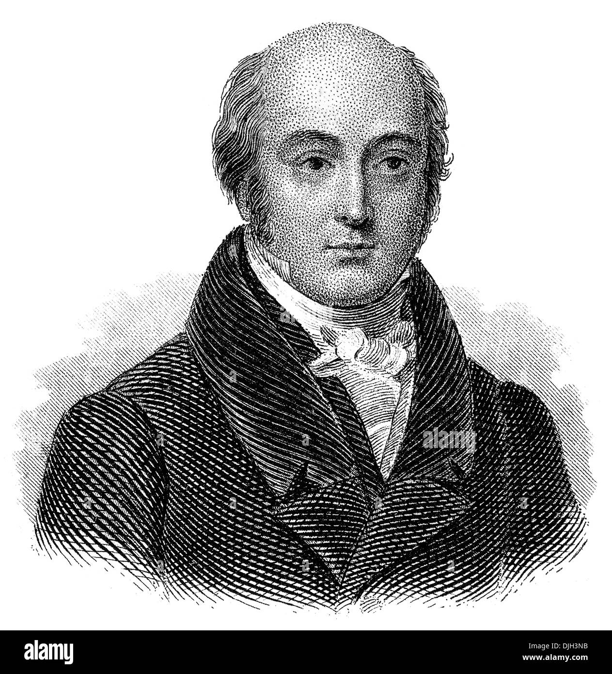 Portrait of Sir Thomas Lawrence, 1769 -1830, a English painter and president of the Royal Academy, - Stock Image