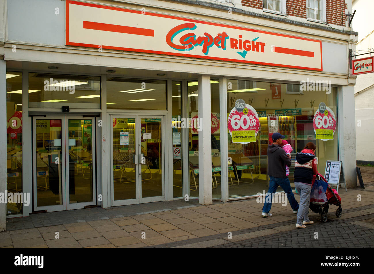 Carpet Right shop in Diss - Stock Image