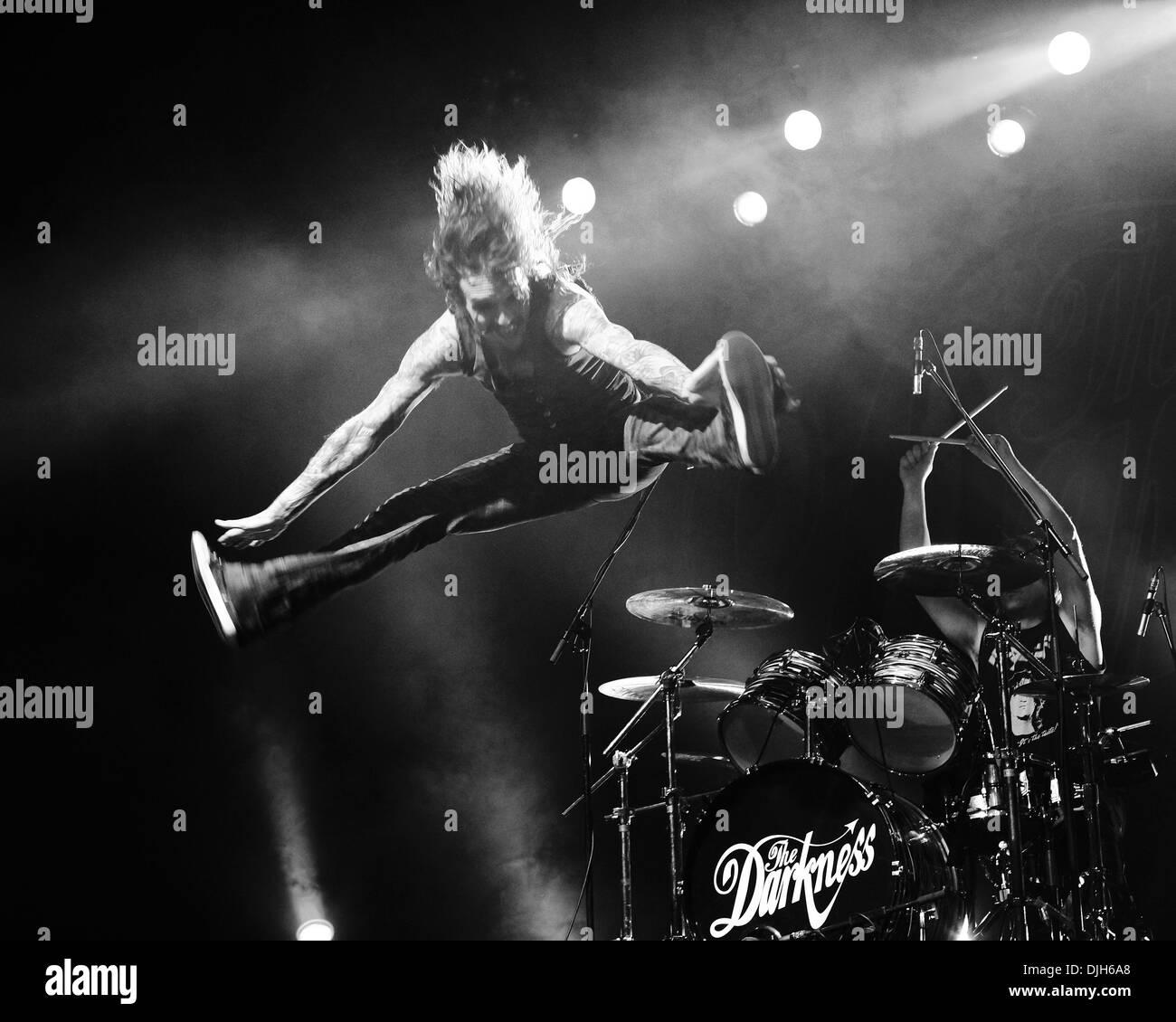 Justin Hawkins The Darkness live at Thebarton Theatre Adelaide, Australia - 17-05-12 , - Stock Image