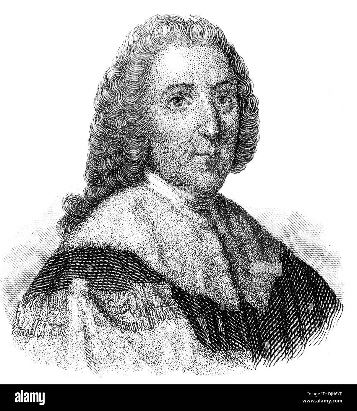 Portrait of William Pitt, 1st Earl of Chatham, William Pitt the Elder, 1708 - 1778, a British Whig statesman - Stock Image