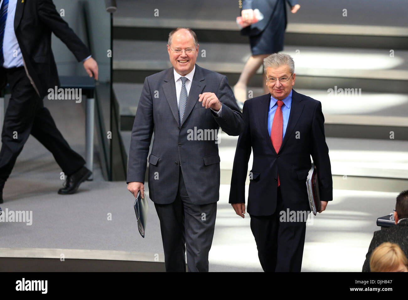 Berlin, Germany. November 28th, 2013. 3. Plenary session (Militar Mission in Sudan) with participation of Chancellor Angela Merkel.  Peer Steinbrueck (SPD), MP. Credit:  Reynaldo Chaib Paganelli/Alamy Live News - Stock Image