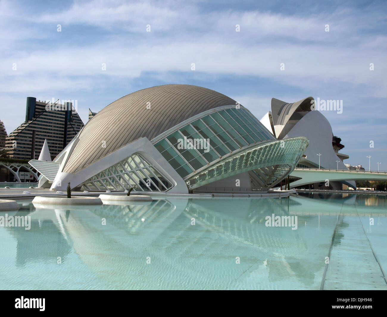 Dome shaped building. Modern european architecture. - Stock Image