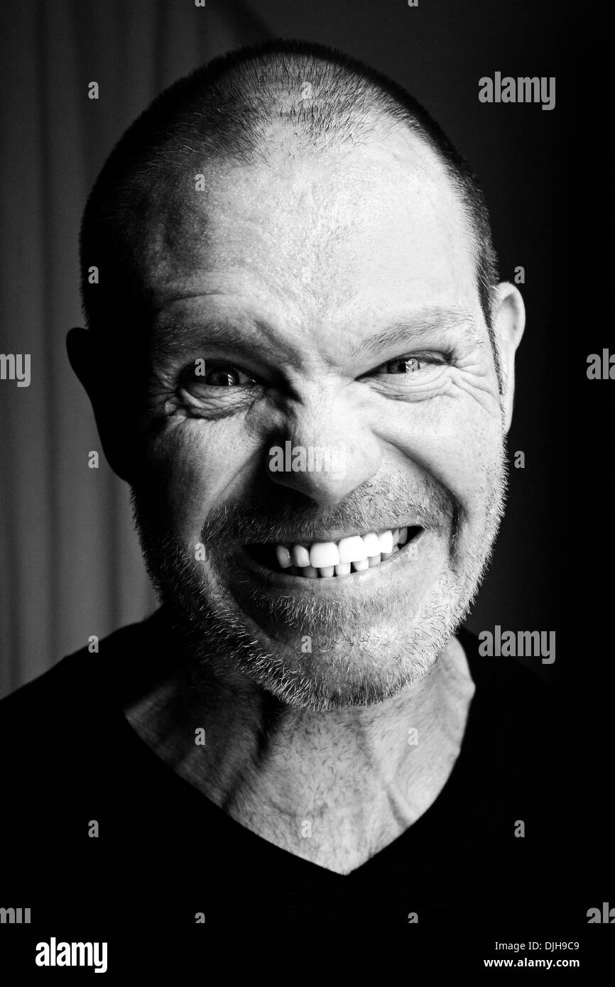 Angry 43 year old man. - Stock Image