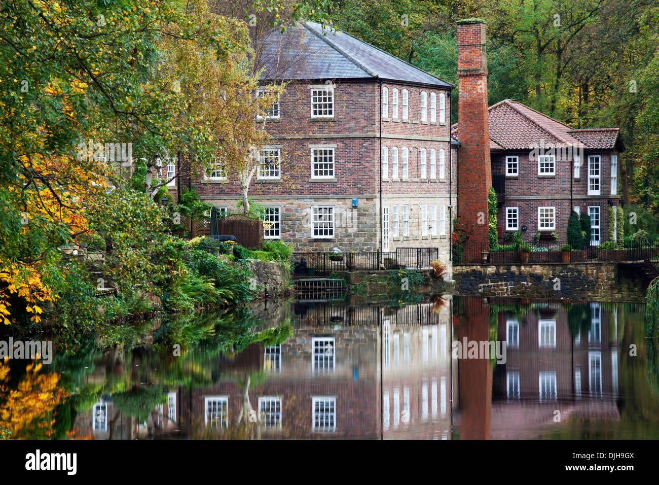 Castle Mills in Autumn Knaresborough North Yorkshire England - Stock Image