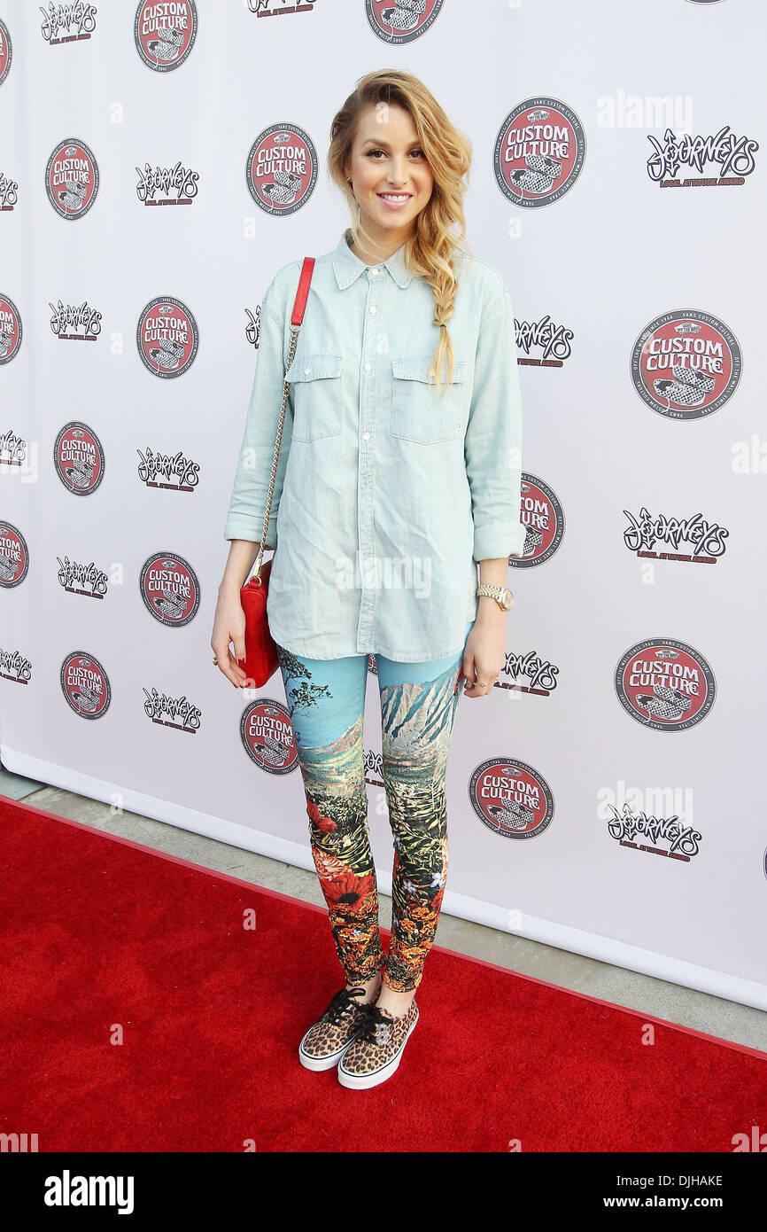 Actress-designer Whitney Port Vans Custom Culture Final Event 2012 at Long Beach Museum of Art Los Angeles California Stock Photo