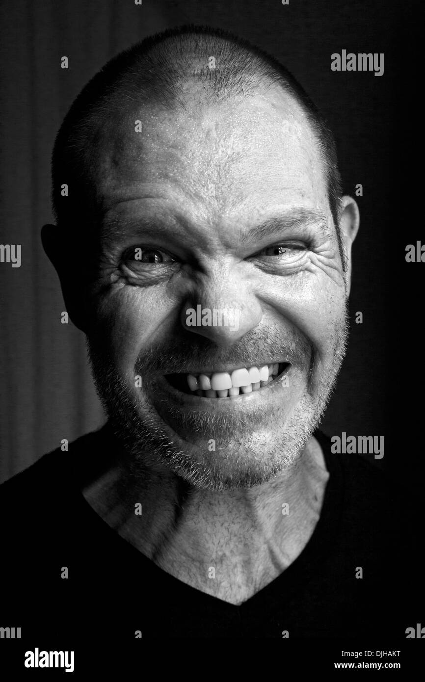 Angry 43 year old man - Stock Image