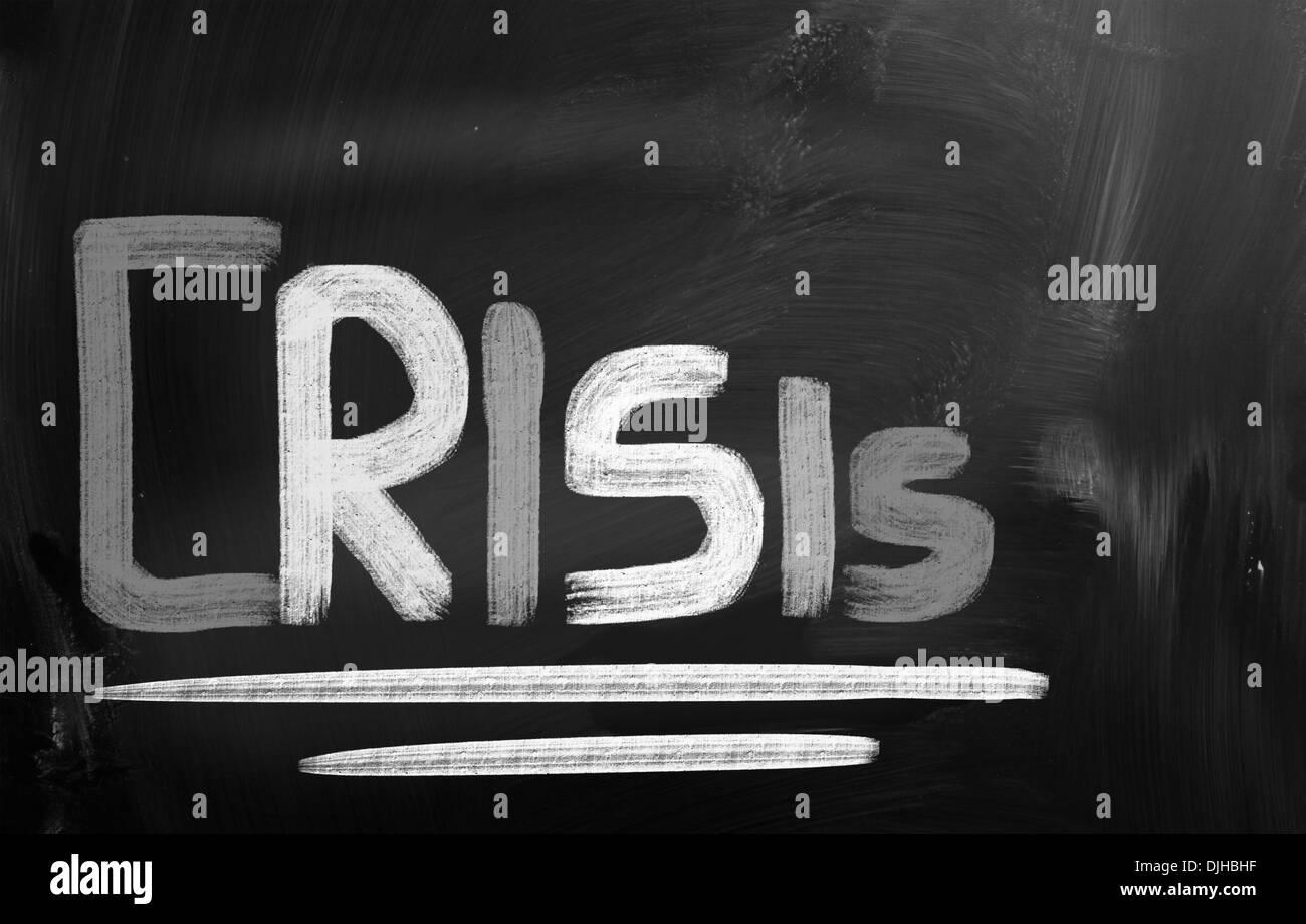Crisis Concept - Stock Image