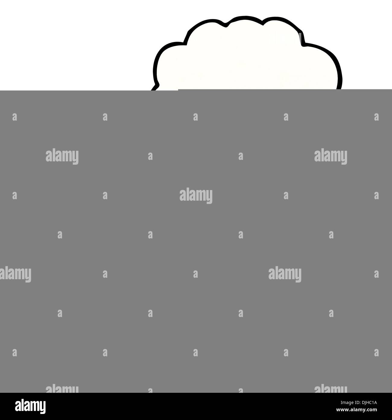 Retro cartoon with texture. Isolated on White. Stock Vector