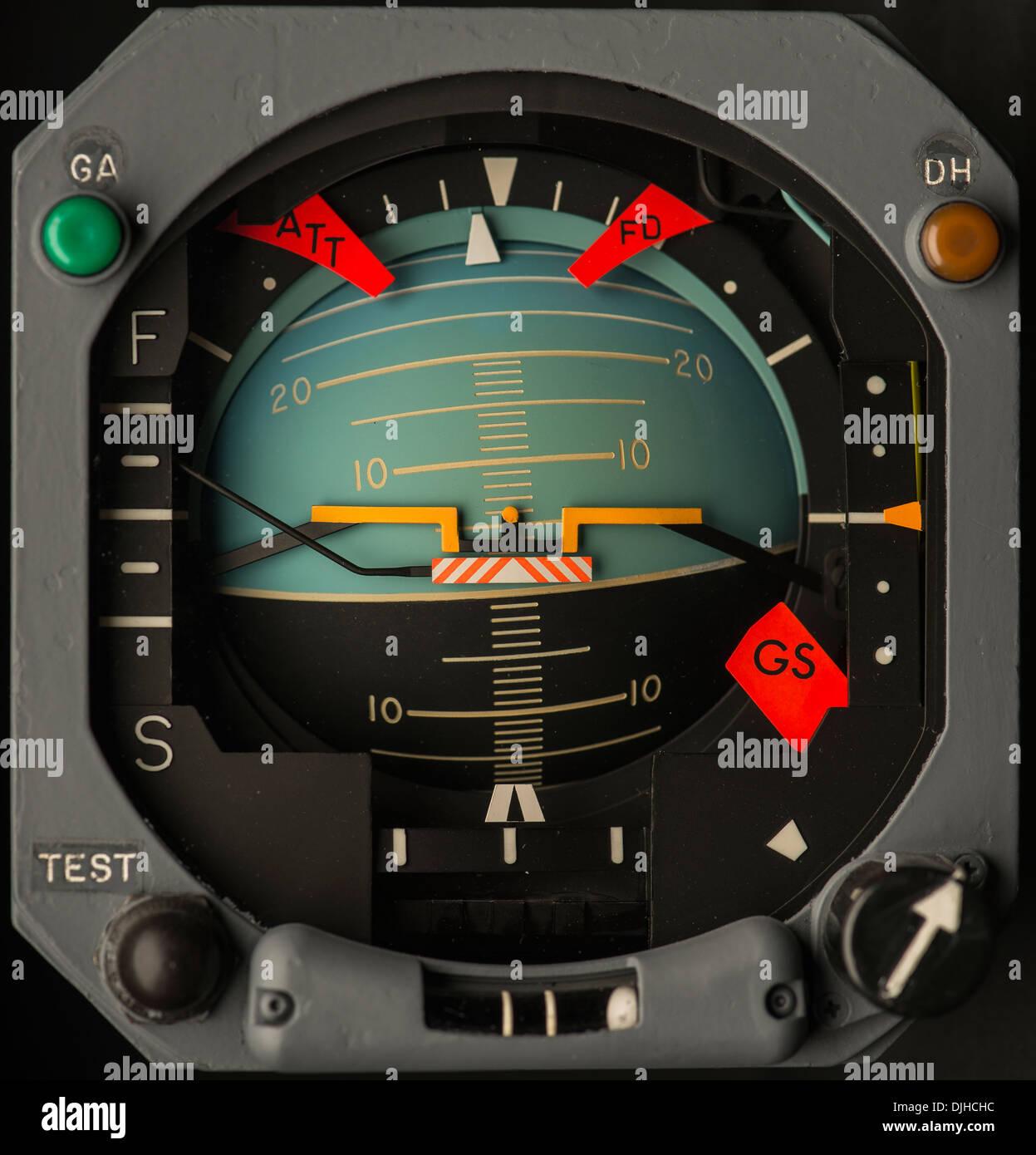 Boeing 747 Attitude display indicator ADI - Stock Image