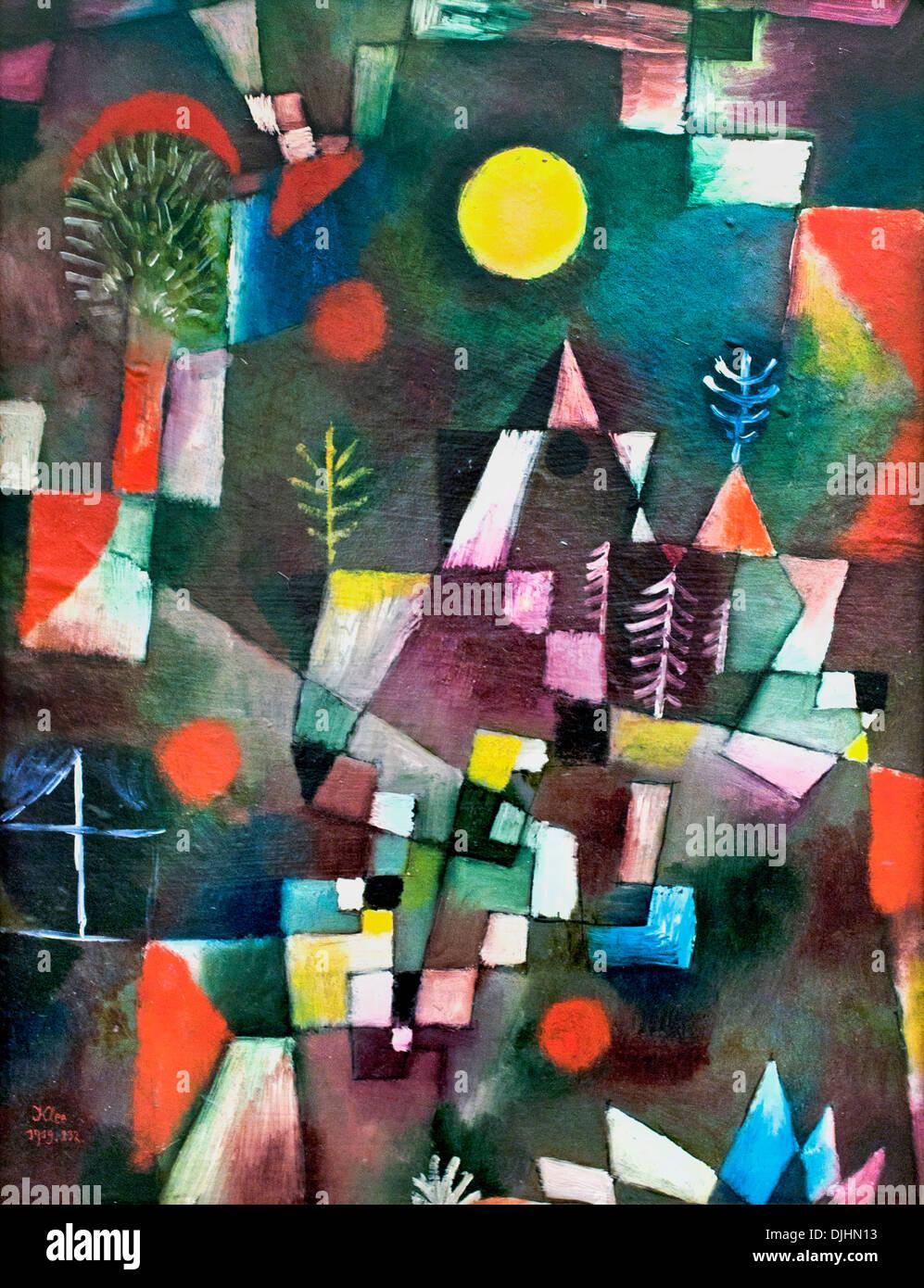 Der Vollmond  - The full moon 1919 Paul Klee 1879 - 1940 German born in Switzerland  Swiss - Stock Image
