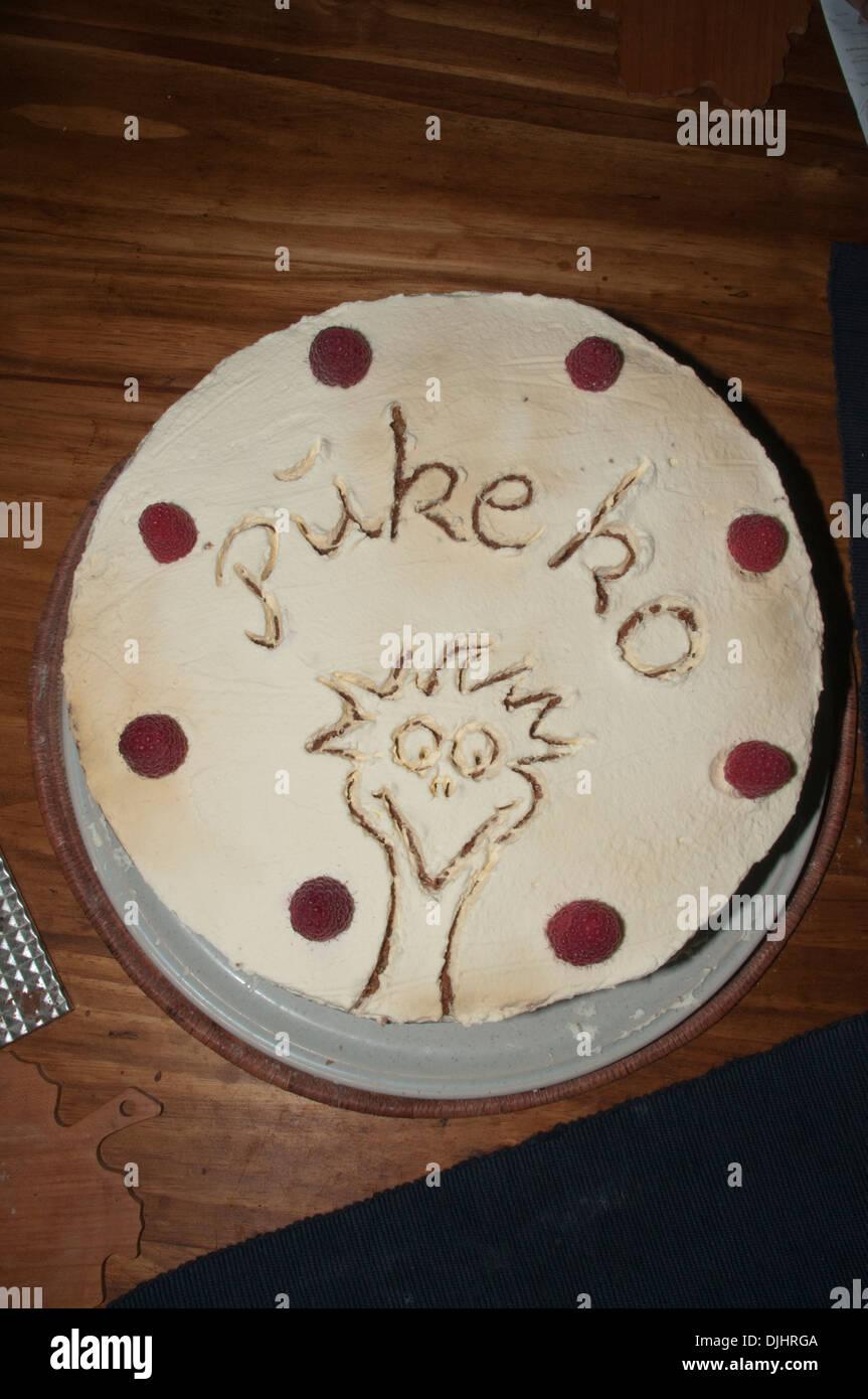 Home Made Cakes With Decorative Elements Ein Selbstgebackener Kuchen Mit Einer Netten Verzierung