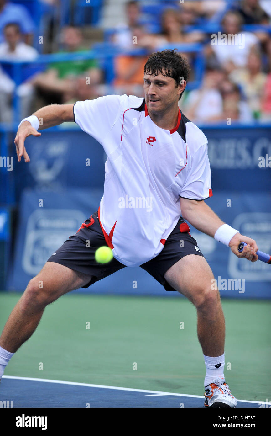 Aug. 03, 2010 - Washington Dc, District of Columbia, United States of America - 03 August 2010: Legg Mason Tennis Classic, Sponsored by Geico..Mens singles, .Karol BECK (SVK) defeated tonight by  Fernando VERDASCO (ESP).  (6-4, 5-7, 6-7) who rallied back after saving a  match point in the second set.Mandatory Credit: Roland Pintilie / Southcreek Global (Credit Image: © Southcreek G - Stock Image