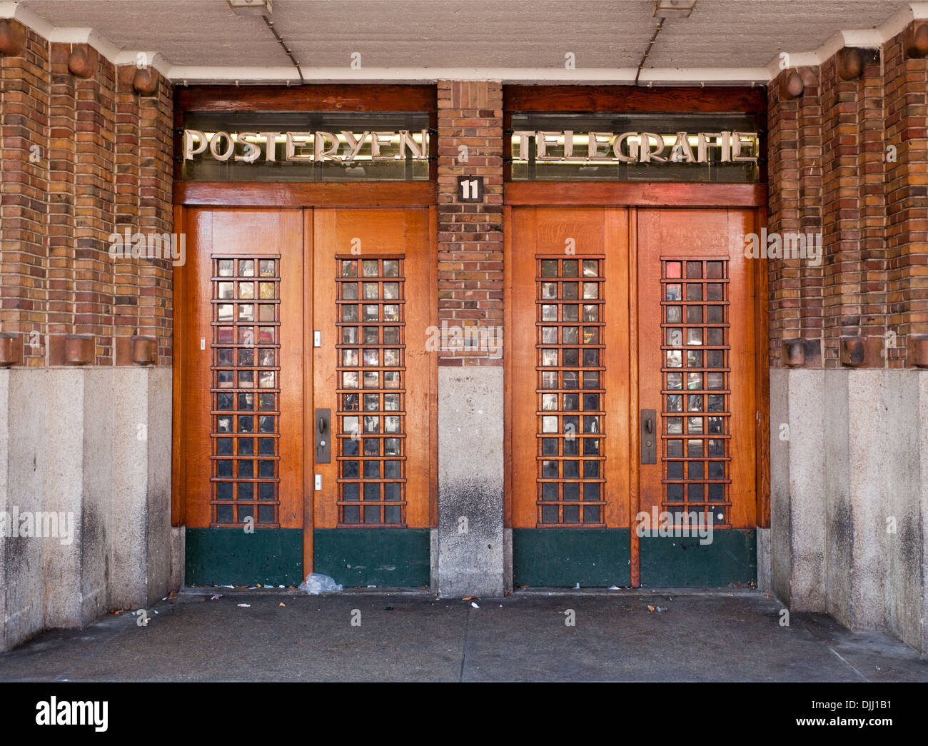 Old post office and telephone exchange in Utrecht (No longer used as such) - Stock Image