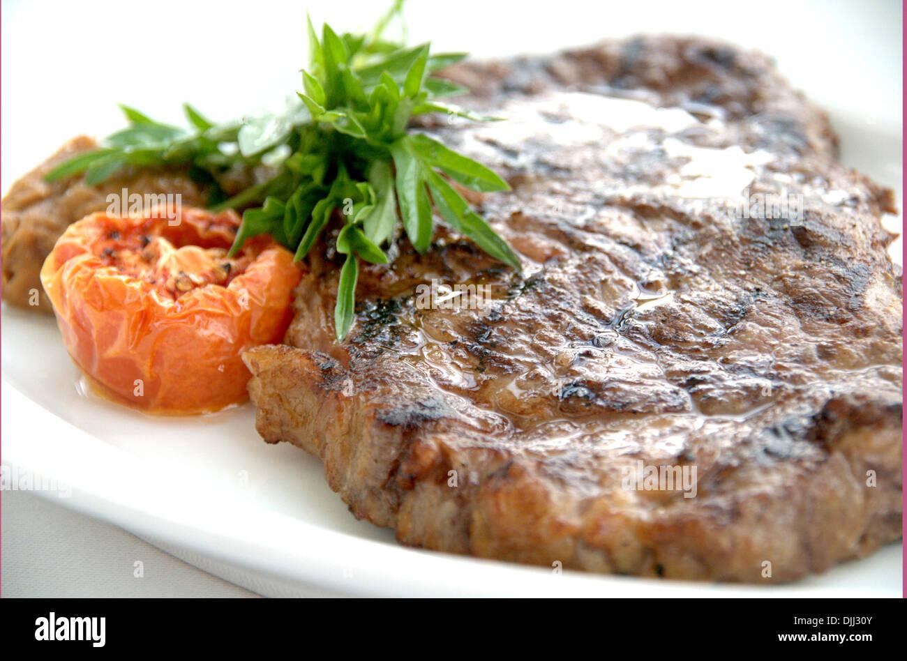 Australian Wagyu Ribeye Steak Stock Photo
