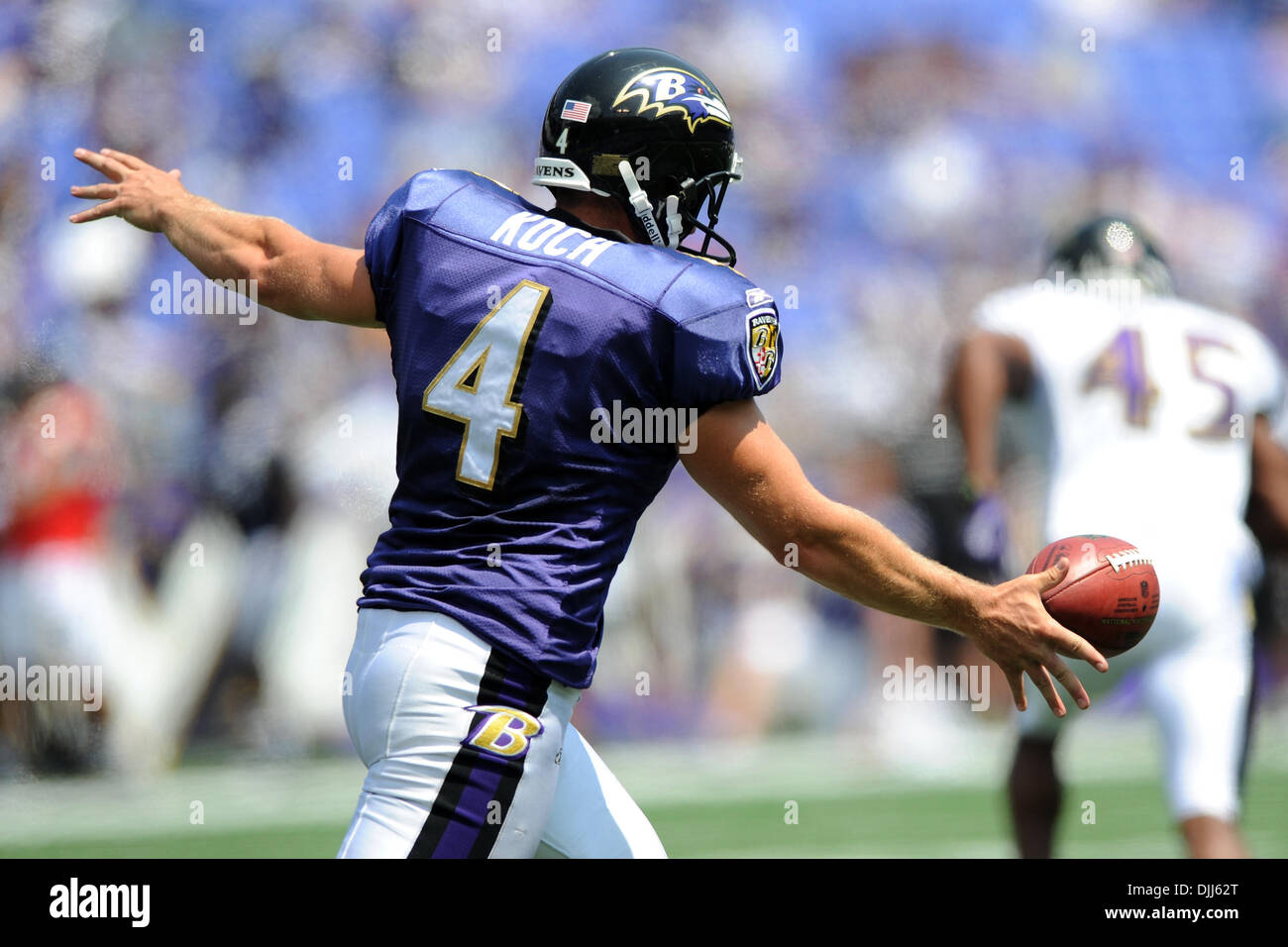 ... 2010 Baltimore Ravens punter Sam Koch (4) in action during ... 54d1bb9a2