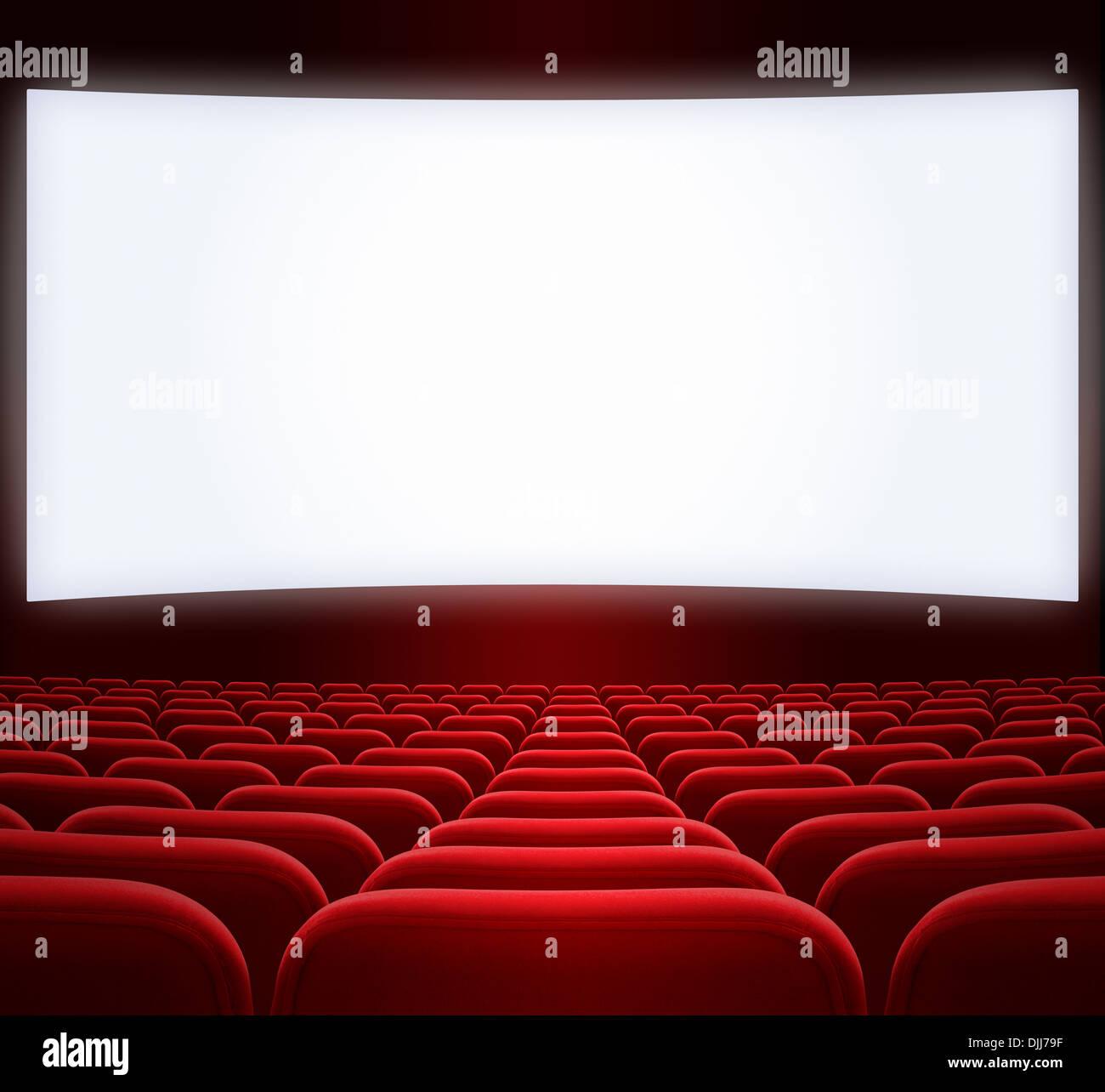 wide cinema screen - Stock Image