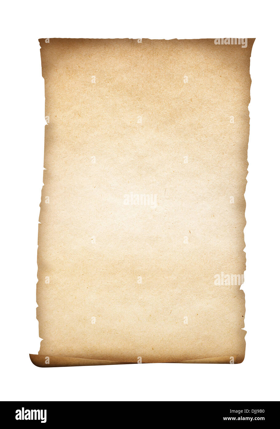 parchment or old paper isolated - Stock Image