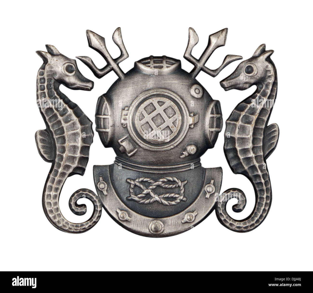 Cutout image of a Navy Master Diver badge on white Stock Photo