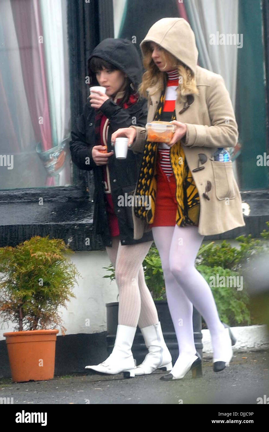 Extras Filming scenes  new Jimi Hendrix biopic 'All Is By My Side' in Bray County Wicklow Ireland - 05.06.12 - Stock Image