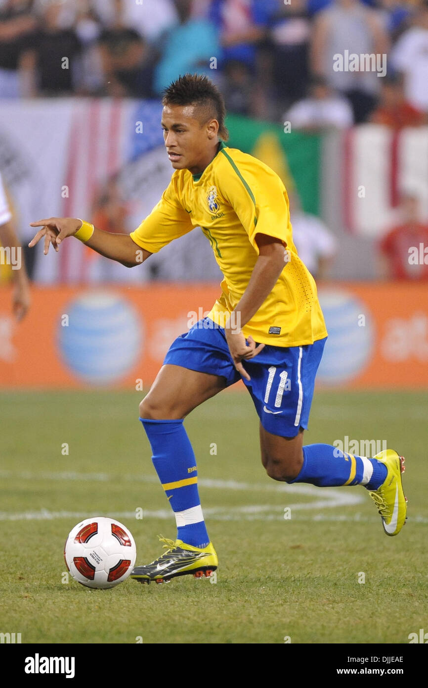 Brazil Striker Neymar  In Action During The First International Friendly At The New Meadowlands Stadium In East Rutherford New Jersey