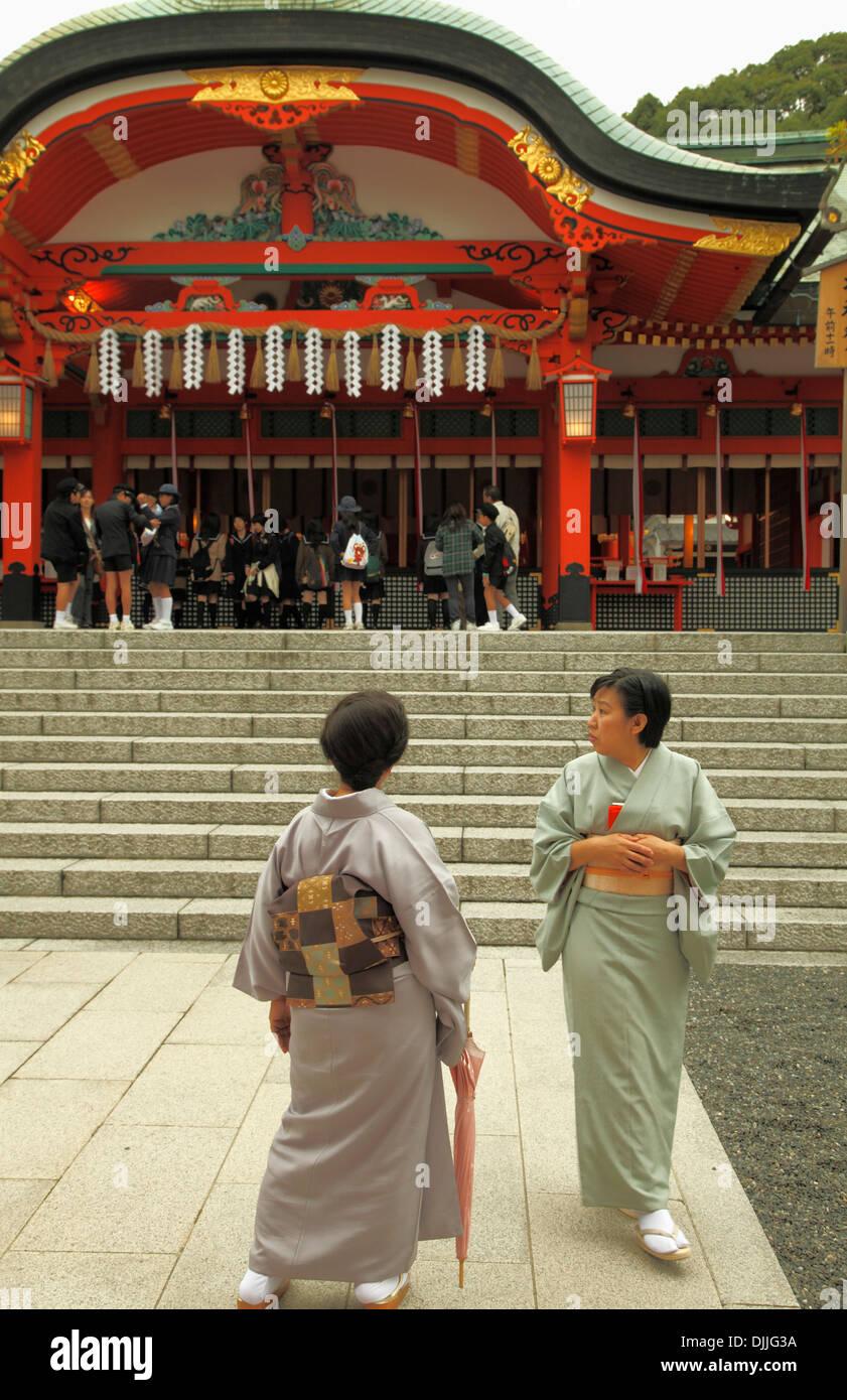 Japan, Kyoto, Fushimi Inari Taisha Shrine, people, - Stock Image