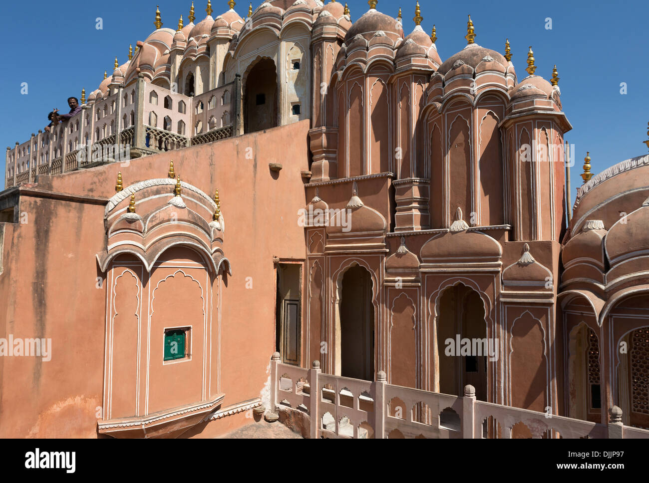 City Palace. In one part of the Chandra Mahal palace now is a museum but most of the castle is still a royal residence. - Stock Image