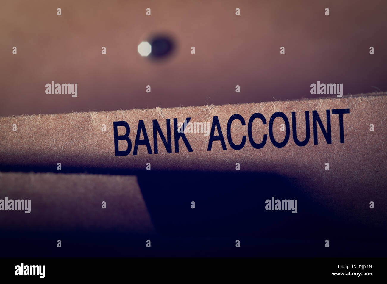 Bank Account folder - Stock Image