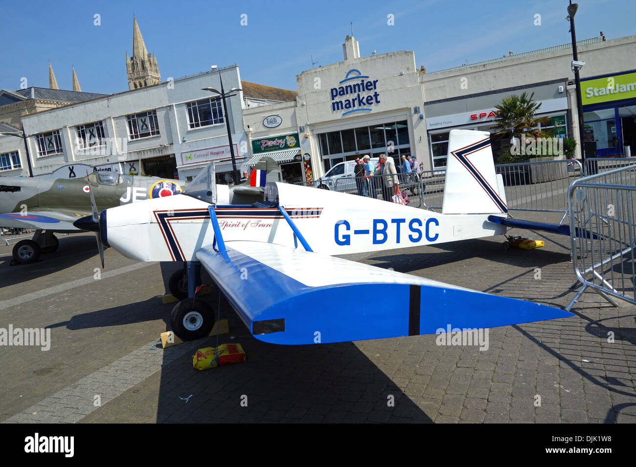 The ' spirit of truro ' a monoplane built 30 years ago by students of Truro school in Cornwall, UK - Stock Image
