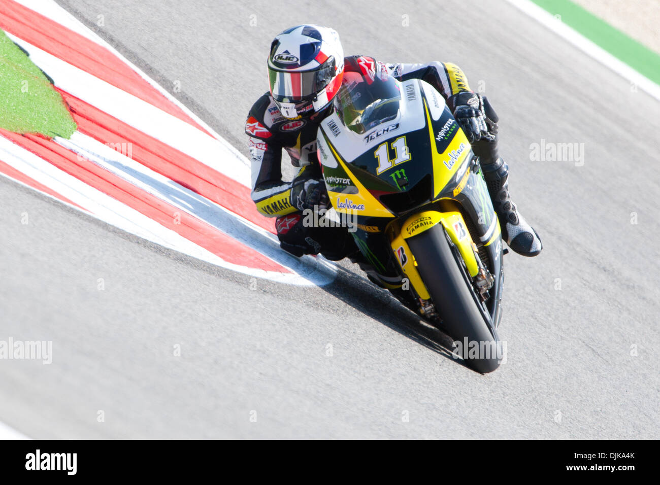 Sep. 03, 2010 - Misano Adriatico, Italy - Yamaha Tech 3 rider Ben Spies (USA #11) during the first MotoGP practice session for the San Marino GP in Misano Adriatico, Italy. Spies finished the practice at the 6th place. (Credit Image: © Andrea Ranalli/Southcreek Global/ZUMApress.com) - Stock Image