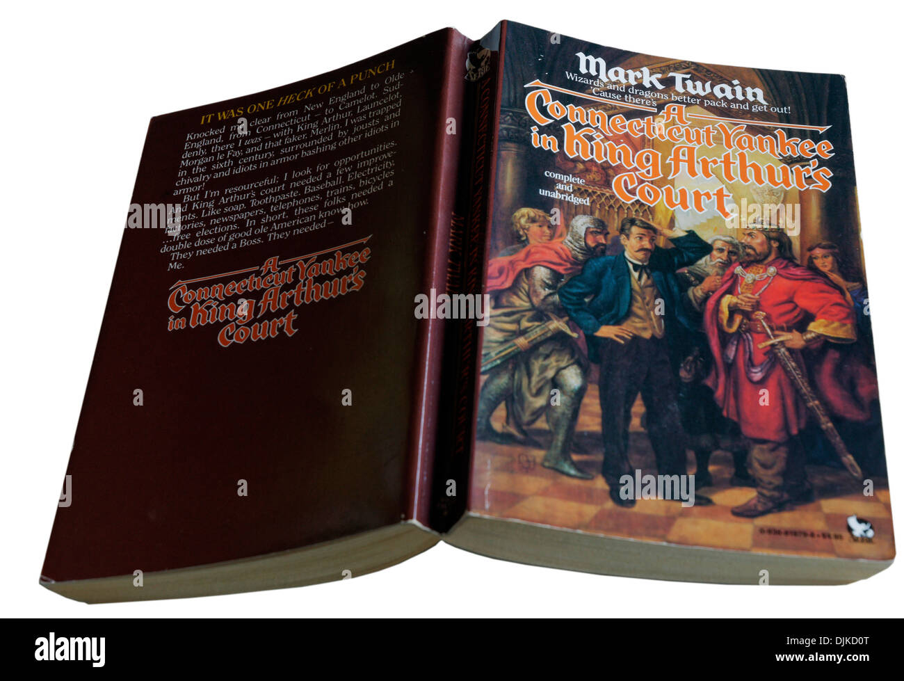 A Connecticut Yankee in King Arthur's Court by Mark Twain - Stock Image