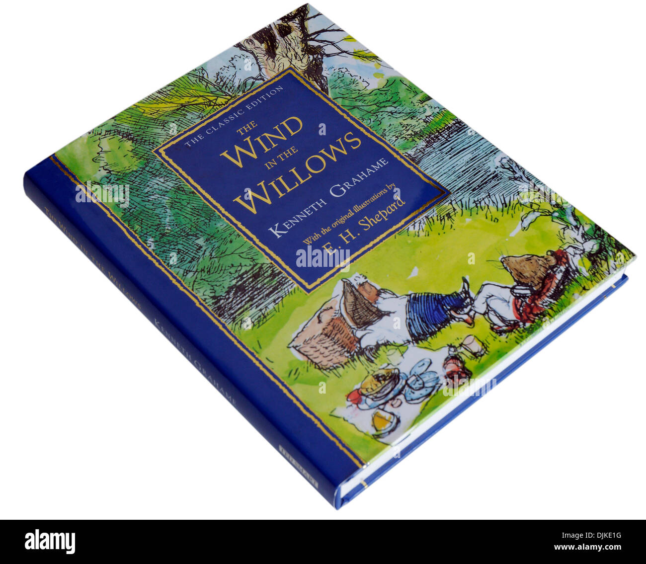 A lovely EH Shepard illustrated edition of The Wind in the Willows by Kenneth Grahame - Stock Image